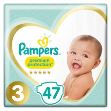 Pampers Premium Protection Essential Pack Size 3 47 Nappies
