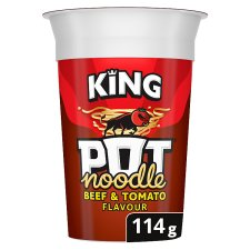 Pot Noodle King Beef & Tomato 114G