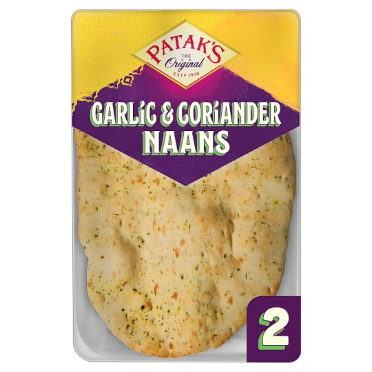 Pataks Garlic And Coriander Naan Bread 2 Pack