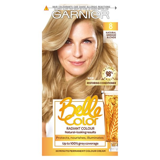 image 1 of Garn/Bel/Clr 8 Natural Medium Blonde Permanent Hair Dye