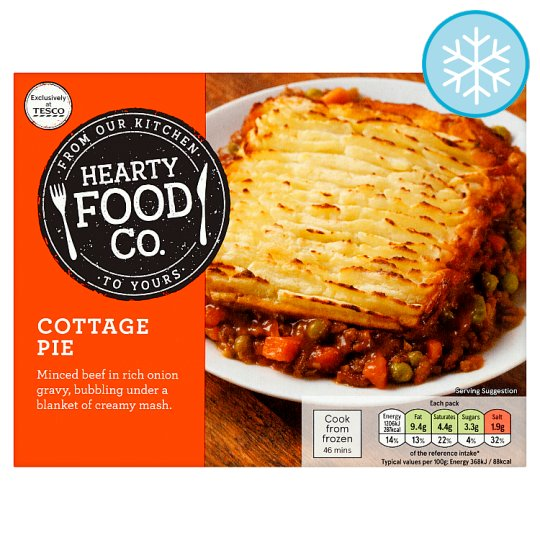 Hearty Food Co. Cottage Pie 400G
