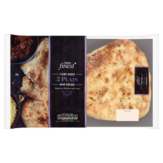 Tesco Finest Plain Naan Bread 2 Pack