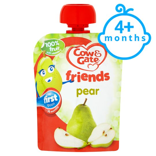 Cow And Gate Pear 100% Fruit Pouch 80G 4 Mth+