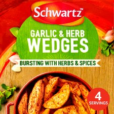 Schwartz Garlic And Herb Potato Wedges 38G