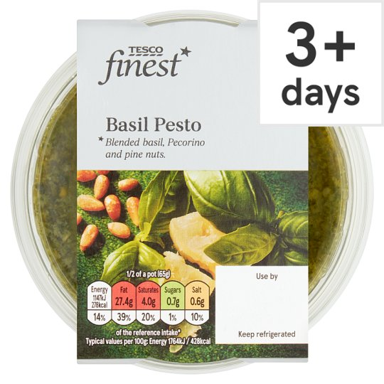 Tesco Finest Pesto And Fresh Basil 130G