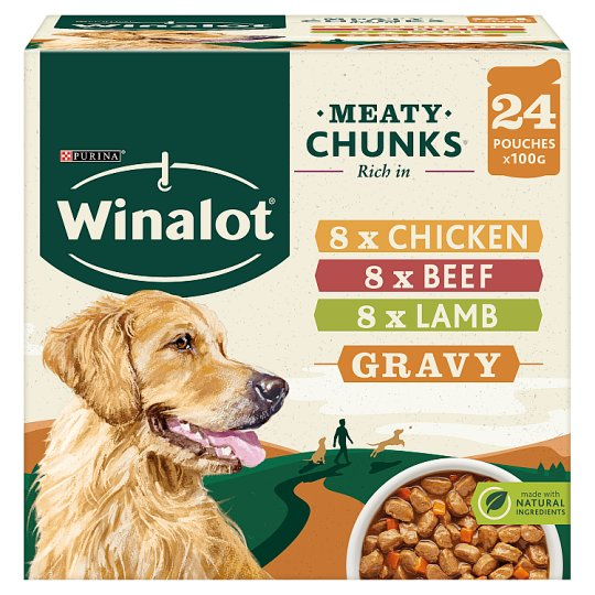 Winalot Pouch Gravy Chicken And Lamb 24X100g