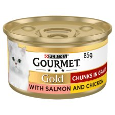 Gourmet Gold Salmon And Chicken In Gravy 85G