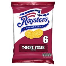 Roysters T-Bone Steak Crisps 6X25.5G