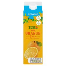 Tesco Pure Orange Juice Smooth 1 Litre