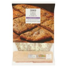 Tesco Seeded Garlic Flatbread 230G