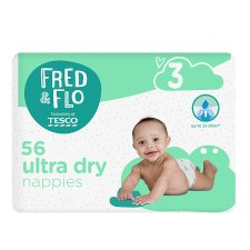 Fred & Flo 56 Ultra Dry Nappies Size 3