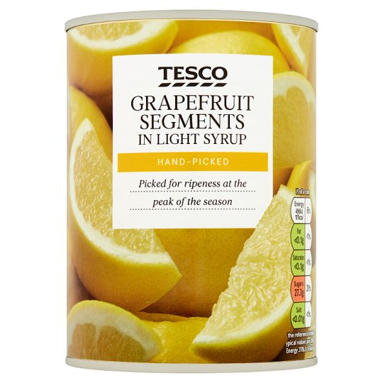 Tesco Grapefruit Segments In Light Syrup 538G