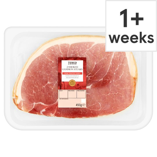 Tesco Gammon Steaks 450G 2 Pack - Smoked