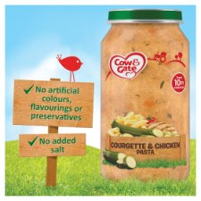 image 2 of Cow & Gate Stage 3 Courgette Chicken Pasta 250G Jar