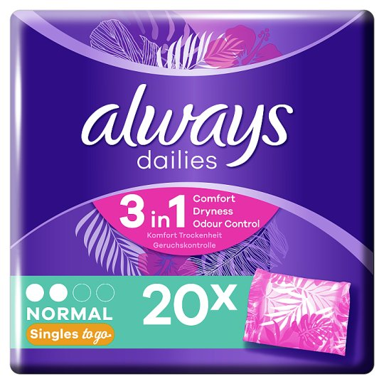 Always Dailies Wrapped Scented 20 Pantyliners