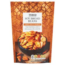 Tesco Broad Beans Snacks Bag 120 G