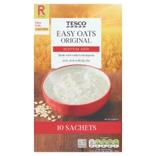 Tesco Easy Oats Original Porridge 10 X27g