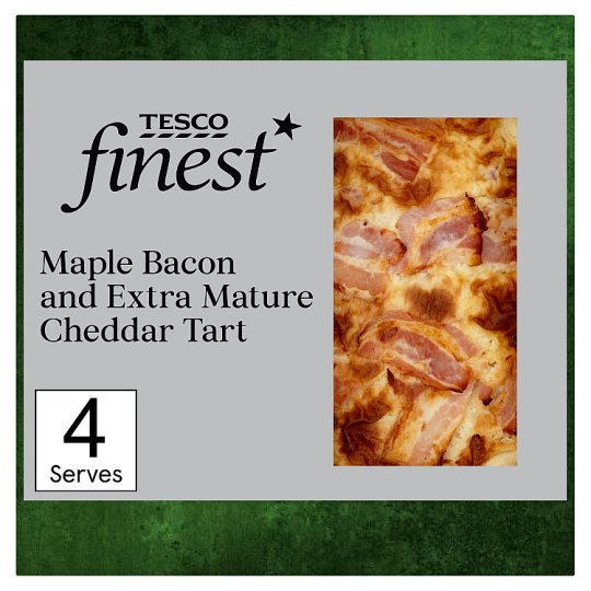 Tesco Finest Maple Bacon And Extra Mature Cheddar Quiche 400G