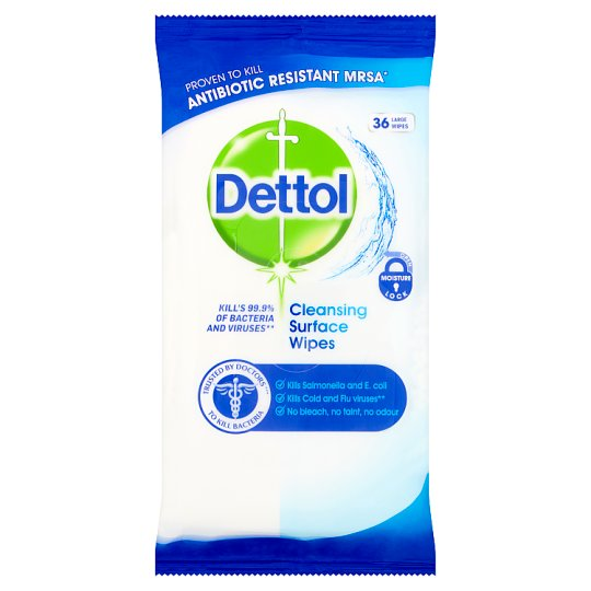 Dettol A/Bact Surface Wipes 36'S