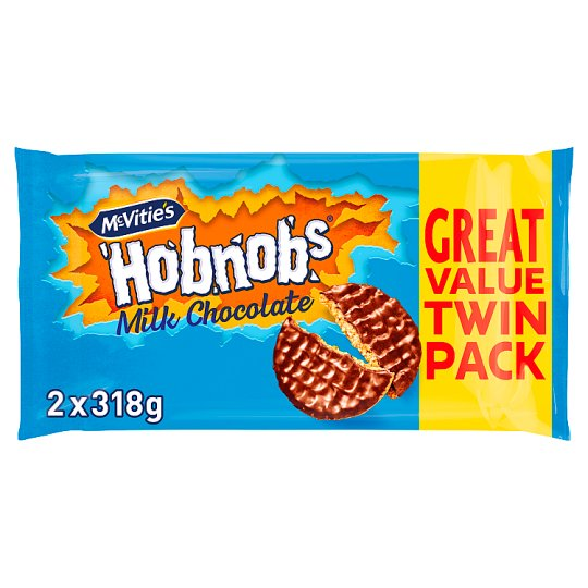 Mcvitie's Milk Chocolate Hobnobs 2X318g