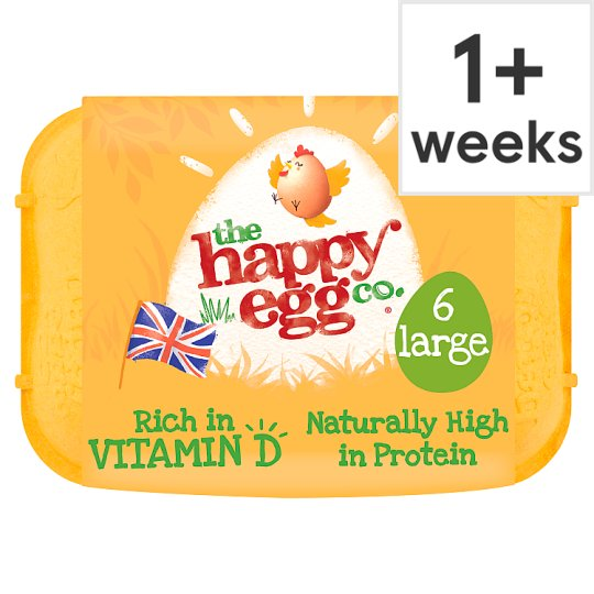 Happy Egg Free Range Eggs Large 6 Pack