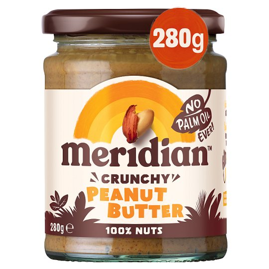 Meridian Peanut Butter Crunchy 100% Nuts 280G
