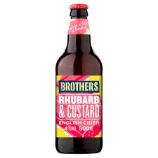 Brothers Rhubarb And Custard Cider 500Ml Bottle
