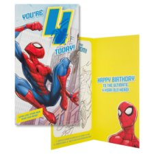 Hallmark Birthday Card You're 4 Today! Spiderman