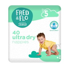 Fred & Flo 40 Ultra Dry Nappies Size 5
