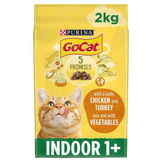 image 1 of Go Cat For Indoor Cats Chicken And Vegetable 2Kg