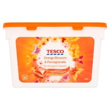 Tesco Orange Blossom And P/Gram Biological Capsules 20W 490Ml