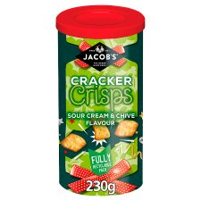 Jacobs Cracker Crisps Sour Cream And Chive 230G