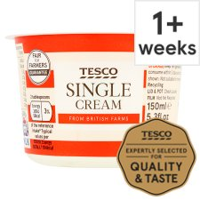 Tesco British Single Cream 150Ml