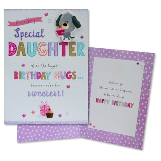 Tesco Birthday Card For A Very Special Daughter