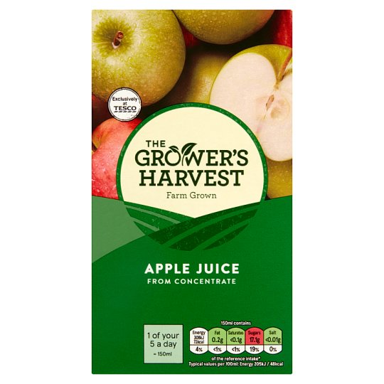 Growers Harvest Pure Apple Juice 1 Litre