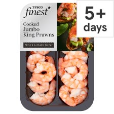 Tesco Finest Cooked Jumbo King Prawns 150G