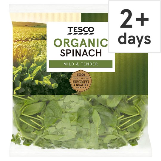 image 1 of Tesco Organic Spinach 200G