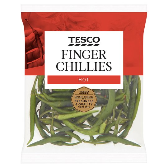 Tesco Finger Chillies 80G