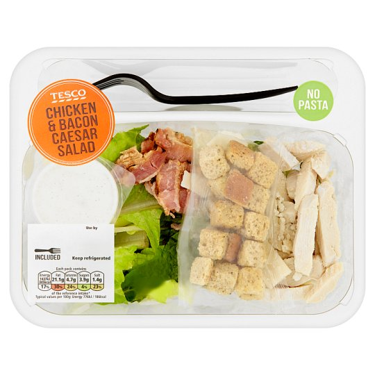 image 1 of Tesco Chicken And Bacon Caesar Salad 185G