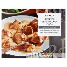 Tesco Classic Kitchen Beef In Peppercorn Sauce 400G
