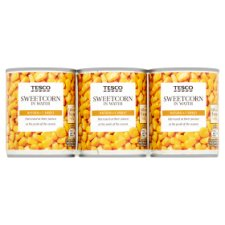 Tesco Naturally Sweet Sweetcorn 3 X200g
