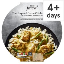 Tesco Finest Thai Green Chicken Curry And Coconut Jasmine Rice 410G