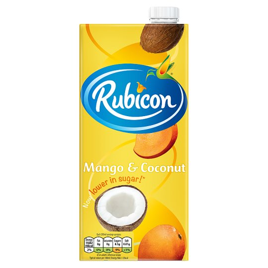 Rubicon Still Mango And Coconut Juice Drink 1 L Carton