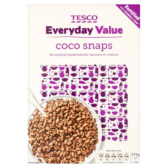 Tesco Everyday Coco Snaps Cereal 375G