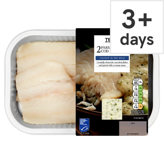 Tesco Cod Fillets With Parsley Sauce 260G