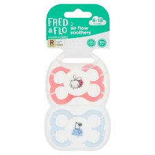 Fred & Flo Air Flow Soothers 2 Pack