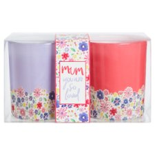 Tesco Glass Votive Candle 2 Pack