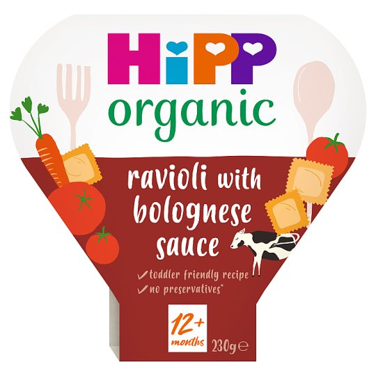 Hipp Organic Vegetable Ravioli In Chunky Bolognese Sauce 230G