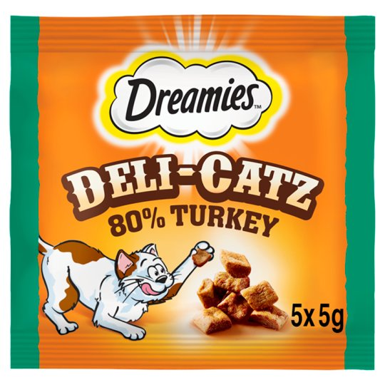 image 1 of Dreamies Deli-Catz Treats With Turkey 5X5g