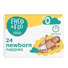 Fred & Flo Newborn Nappy Size 0 24 Pack